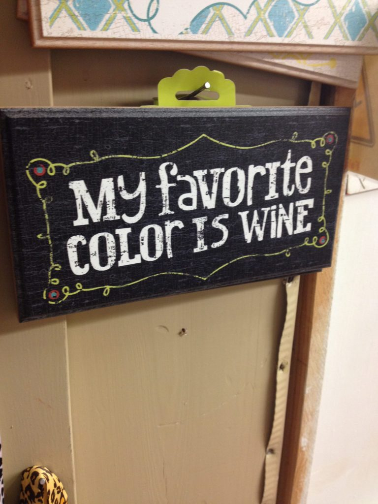 Wine sign at The Vintage House in Broken Bow Oklahoma