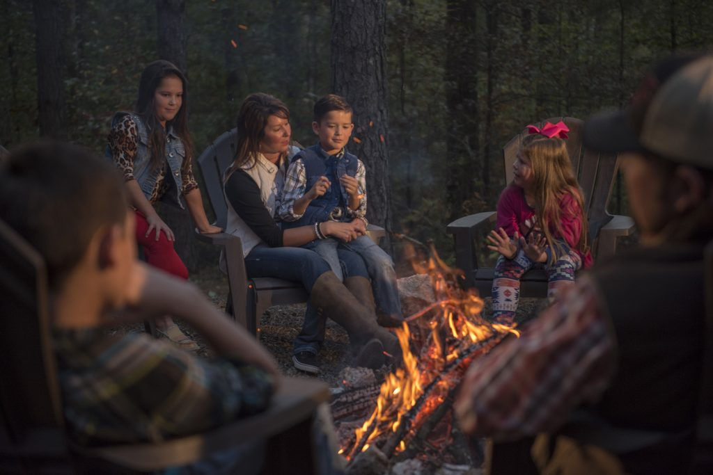 tell campfire stories in McCurtain County