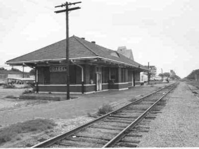 Frisco Railroad Station in Idabel, Oklahoma.