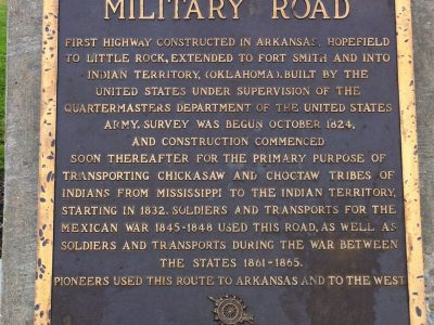 Historic Landmark Military Road Marker Broken Bow Oklahoma