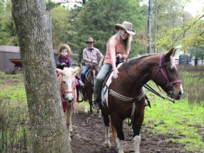 Go horseback riding on the trails in McCurtain County at Beavers Bend Depot & Stables.