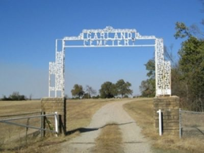 The Garland Cemetery commemorates Choctaw Chief Samuel Garland who is buried here near site of his former plantation home