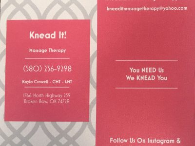 Knead It! Massage Therapy Broken Bow Oklahoma