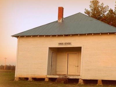 The Tiner school, near broken bow, is one of the few remaining one-room schoolhouses in Oklahoma.