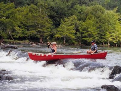 Wild Goose canoe and kayak rentals along the Lower Mountain Fork river in Oklahoma